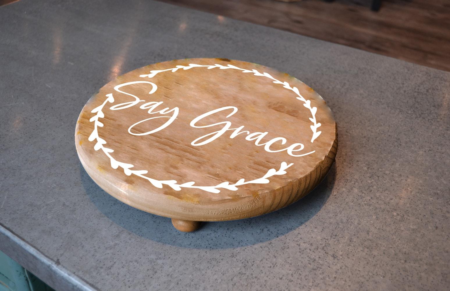 Say Grace Round Pedestal-min